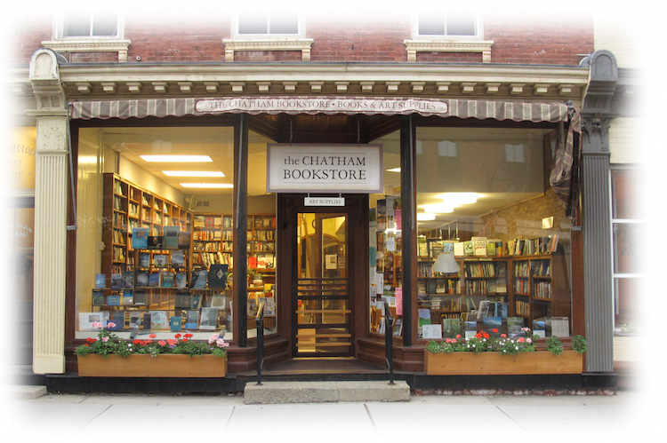 the bookstore storefront on Main Street, Chatham, NY